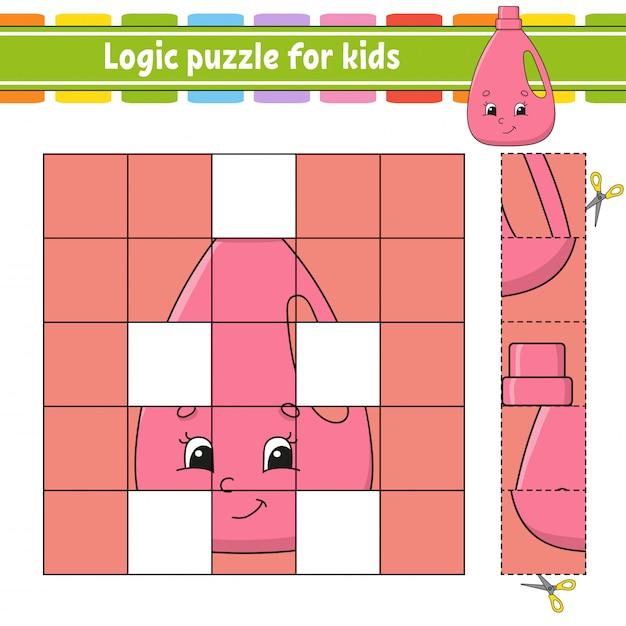 子供向けの論理パズル。 Premiumベクター