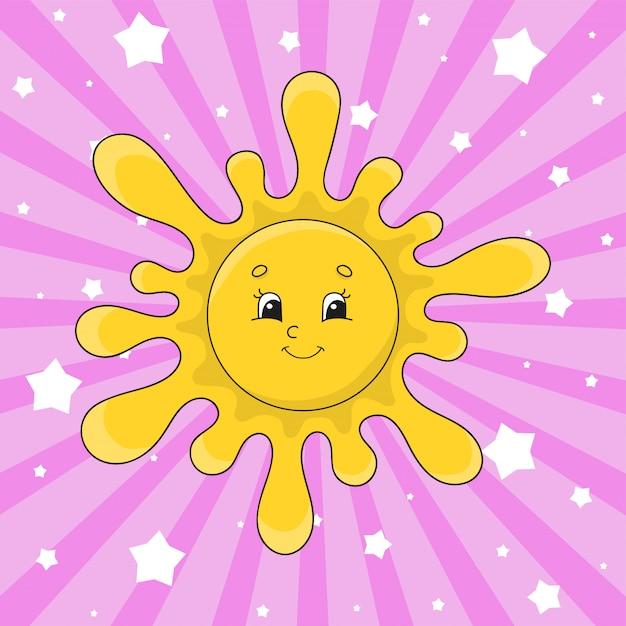 Теплое солнце. Premium векторы