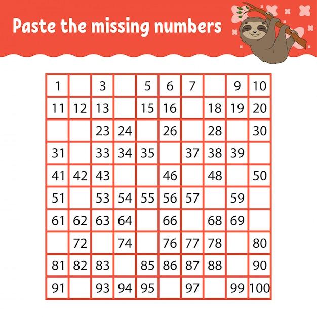 Детская игра с животными, чтобы узнать цифры Premium векторы