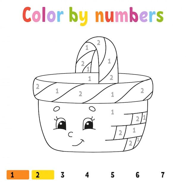数字による色。 Premiumベクター