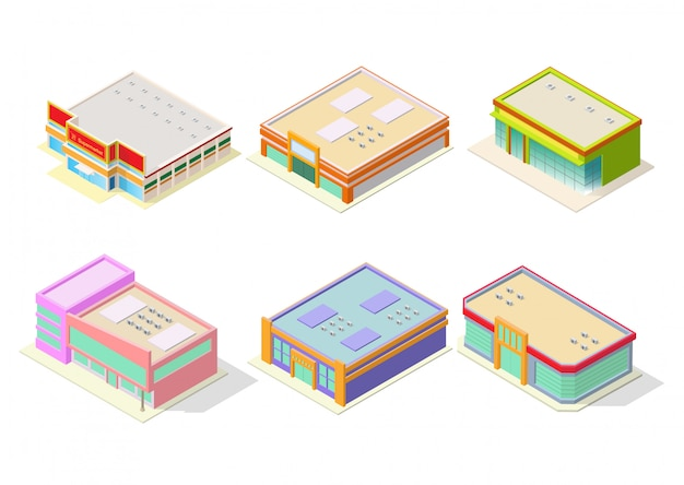Комплект для супермаркетов или торговых центров Premium векторы