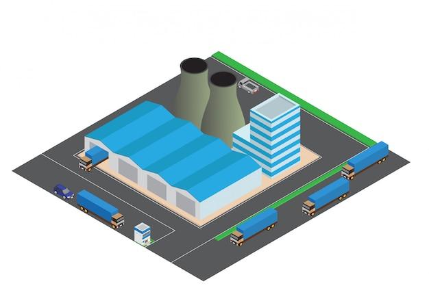等尺性工業用建物の組成 Premiumベクター