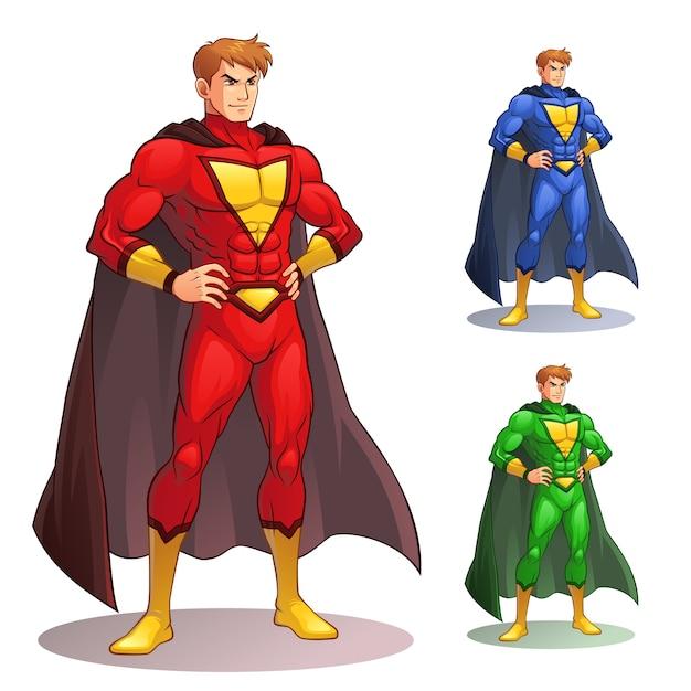グレートスーパーヒーロー Premiumベクター