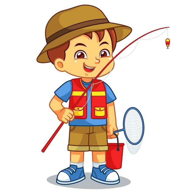 Картинки детские рыбака