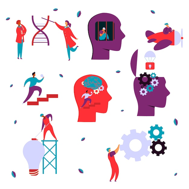 脳神経心理学のコンセプト Premiumベクター