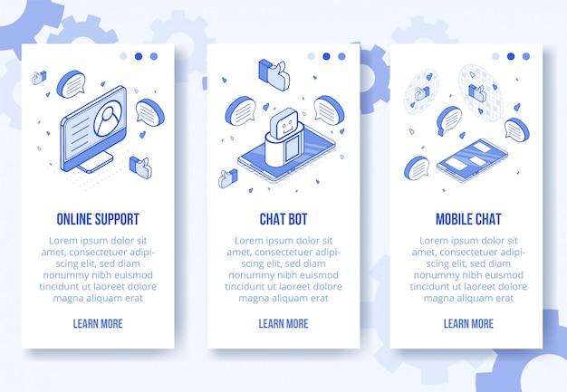 デジタル通信アイソメトリックデザイン Premiumベクター