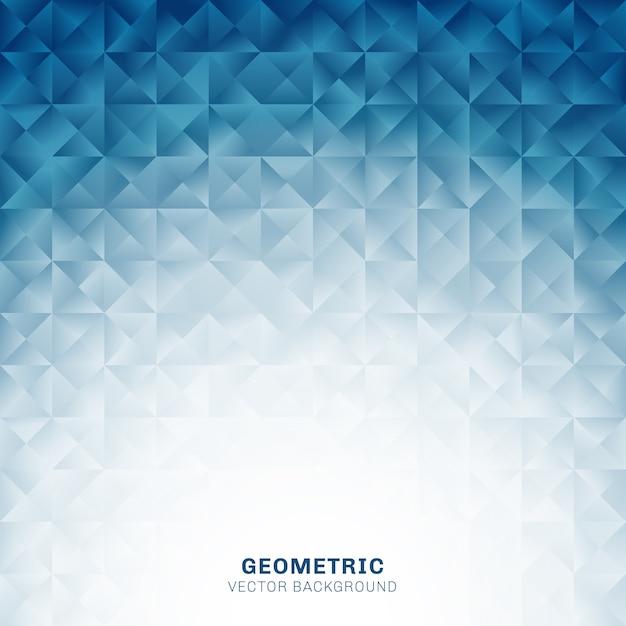 抽象的な幾何学的三角形模様の青い背景 Premiumベクター
