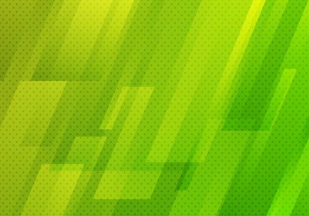 抽象的なグリーンの幾何学的な斜めの背景 Premiumベクター