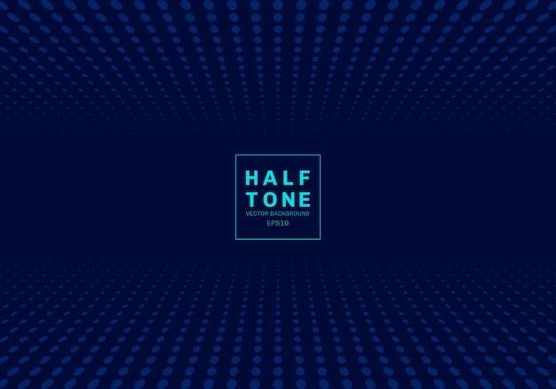 Абстрактный светло-точка полутоновый синий фон Premium векторы