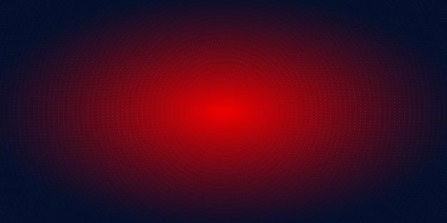 Абстрактные красные радиальные точки полутонов синий фон Premium векторы