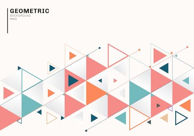 Абстрактный фон шаблона с красочными треугольниками Premium векторы