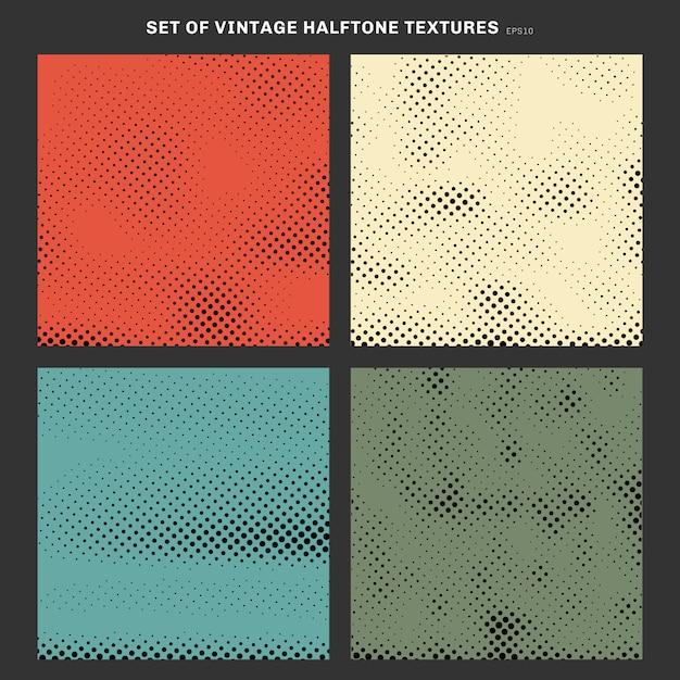 Набор старинных полутоновых текстуры эффект фона. Premium векторы