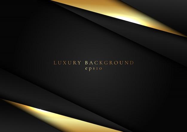 抽象的な黒とゴールドの三角形の暗い背景 Premiumベクター