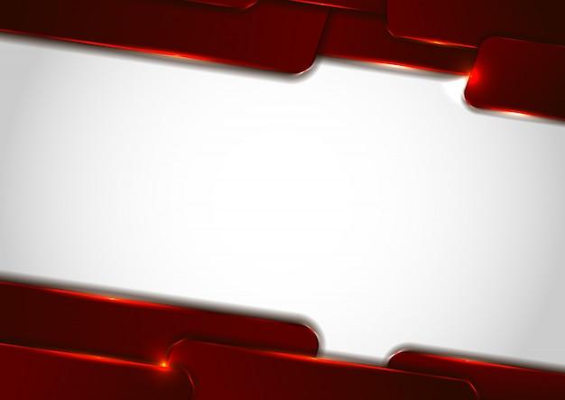 抽象的なテクノロジー赤の幾何学的な重なり合うレイヤー Premiumベクター