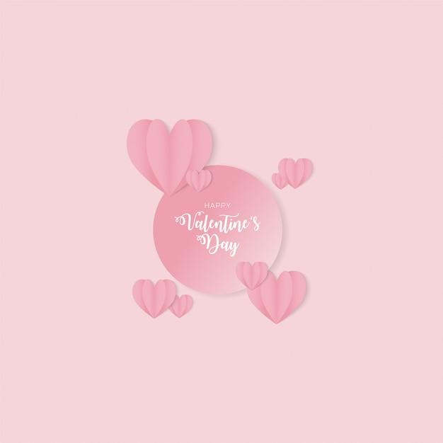 幸せなバレンタインデーの背景デザイン Premiumベクター