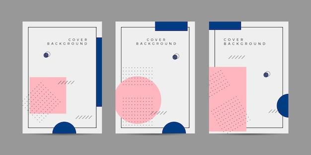メンフィスカバーデザインコレクションセット Premiumベクター
