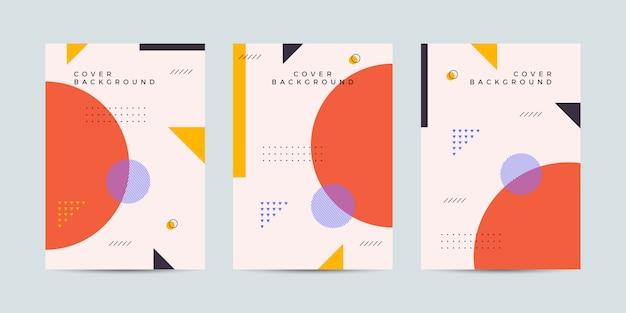 Мемфис дизайн обложки коллекции Premium векторы