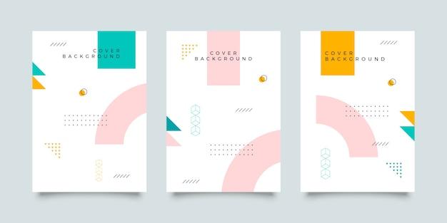 メンフィススタイルのカバーデザインコレクション Premiumベクター