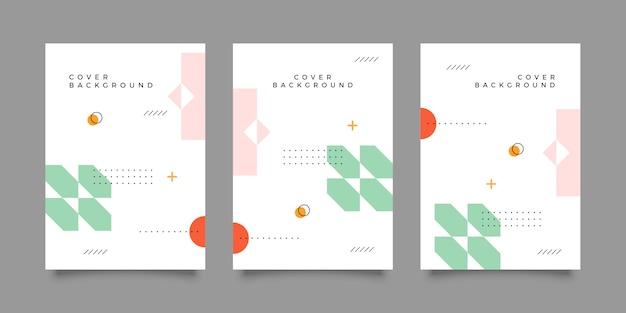 メンフィスカバーデザインコレクション Premiumベクター