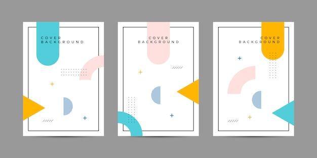 Мемфис арт обложка Premium векторы