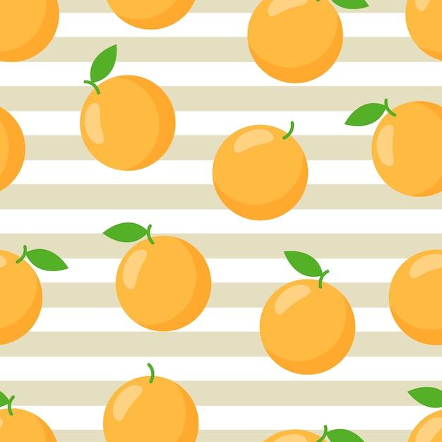 カラフルなオレンジ色のトロピカルプリント。お洒落なプリント。 Premiumベクター