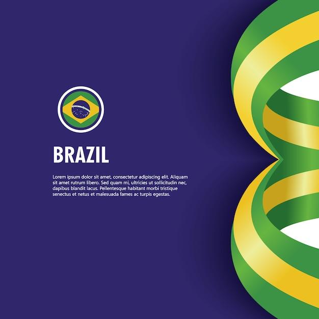 ブラジル独立記念日ベクトルテンプレートデザインイラスト Premiumベクター