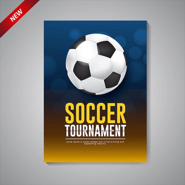 デザインサッカートーナメントポスターテンプレート Premiumベクター