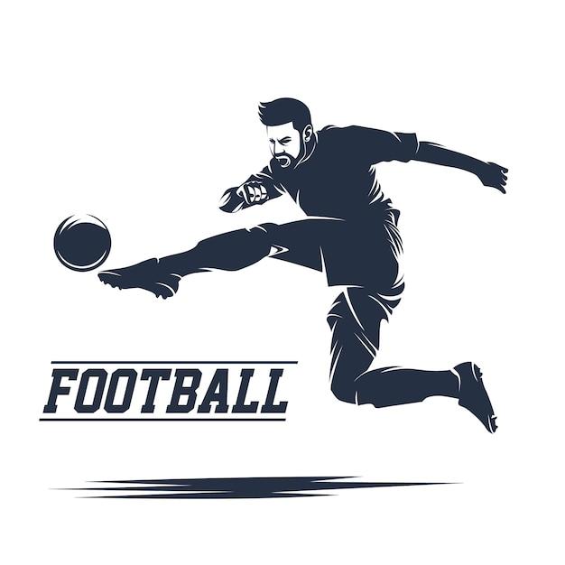 サッカーとサッカーロゴベクトル Premiumベクター