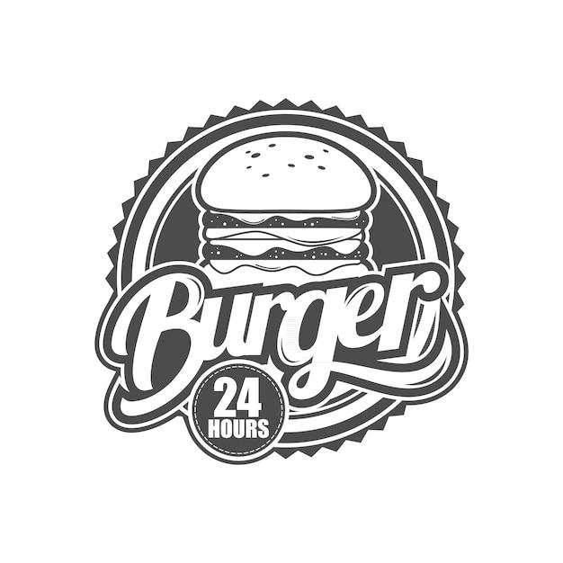 バーガーショップのロゴ Premiumベクター