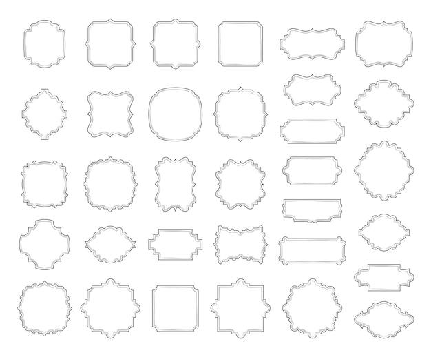枠線とフレームのコレクション 無料ベクター