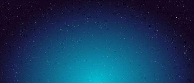 Ночное звездное небо фон. Premium векторы