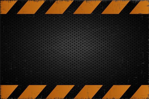 警告メタルの背景事故産業の背景 Premiumベクター