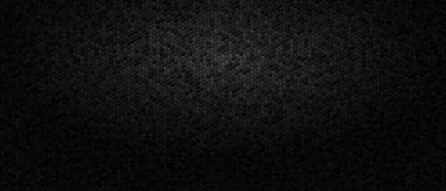 Темный абстрактный фон с сотовыми шестиугольниками. Premium векторы