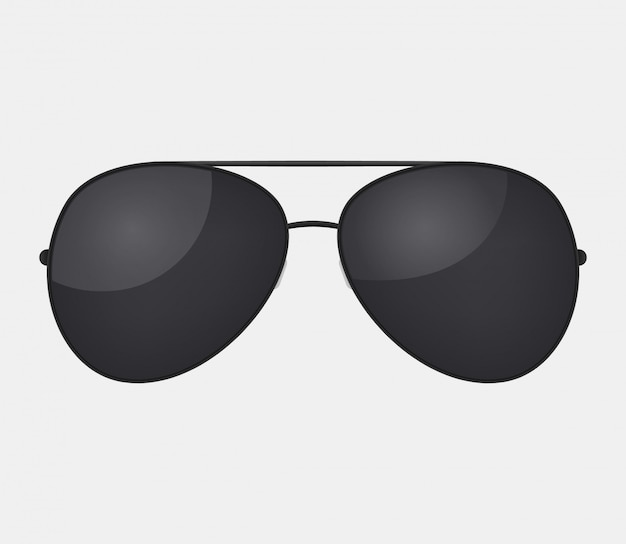 Авиатор полиции изолированные солнцезащитные очки. Premium векторы
