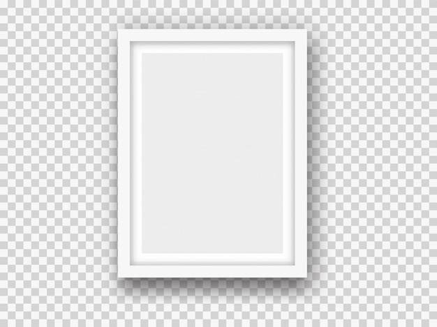 Белый рисунок или фоторамка макет Premium векторы
