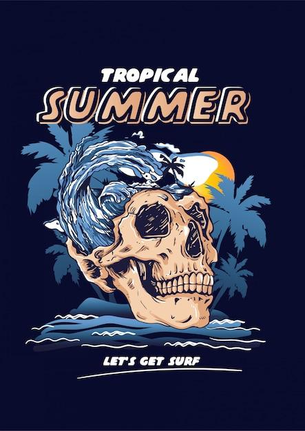 熱帯の夏 Premiumベクター