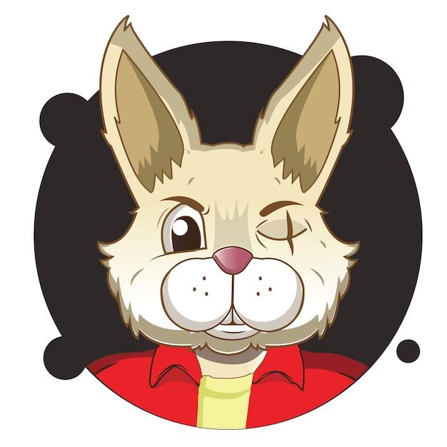 Аватар большой кролик Premium векторы