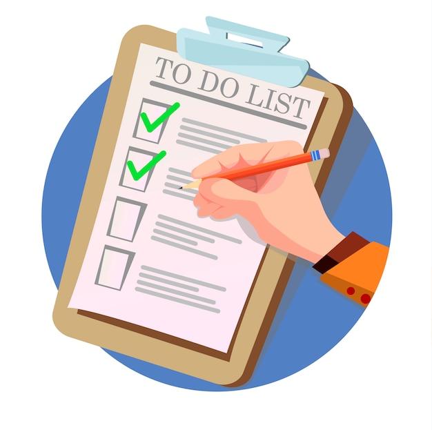 作業リストの確認 Premiumベクター