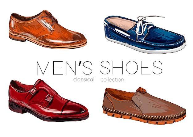 Комплект мужской обуви. Premium векторы