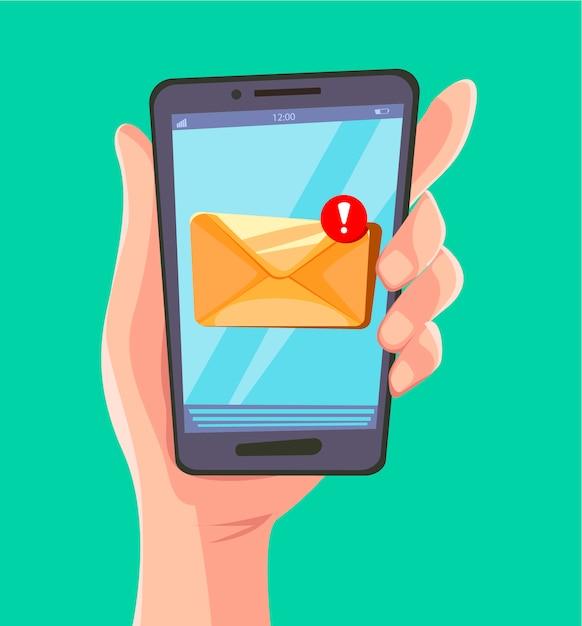 メールメッセージの概念。 Premiumベクター
