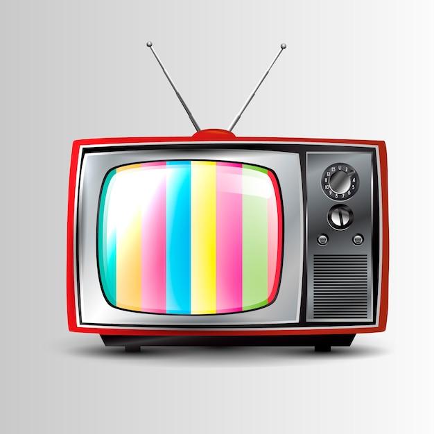 レトロなテレビのアイコン Premiumベクター