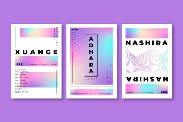 Градиент пастельных красочных тонов дизайн обложки Бесплатные векторы