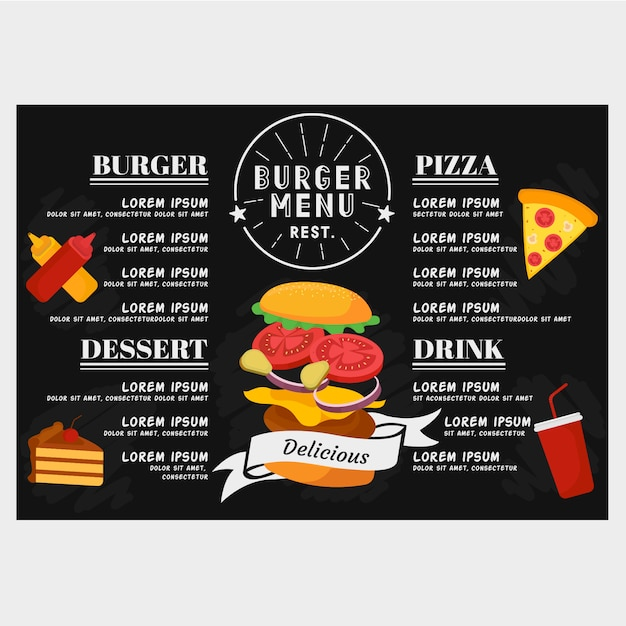 Бургер меню Premium векторы