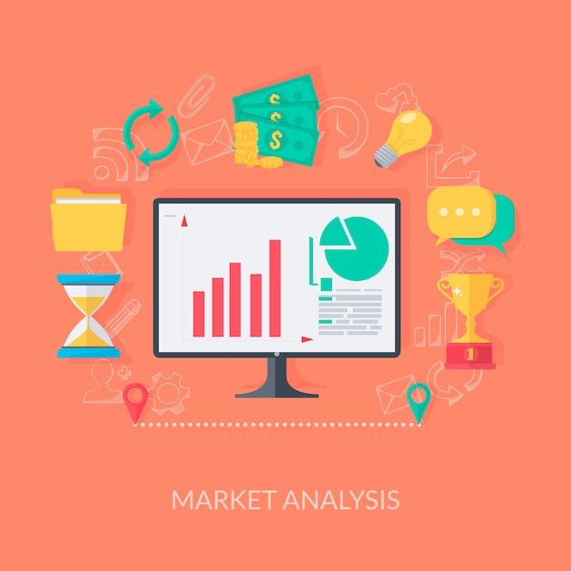 デジタルマーケティングと分析 無料ベクター