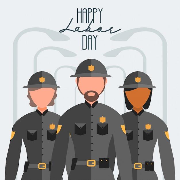 幸せな労働者労働日 Premiumベクター