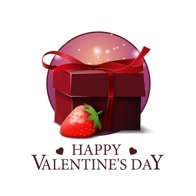 バレンタインデーラウンドバナー Premiumベクター