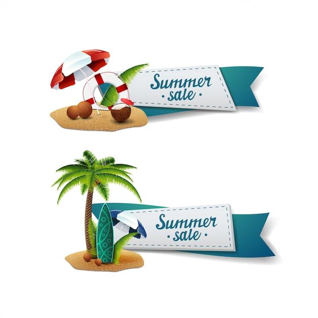 Летняя распродажа баннеров Premium векторы