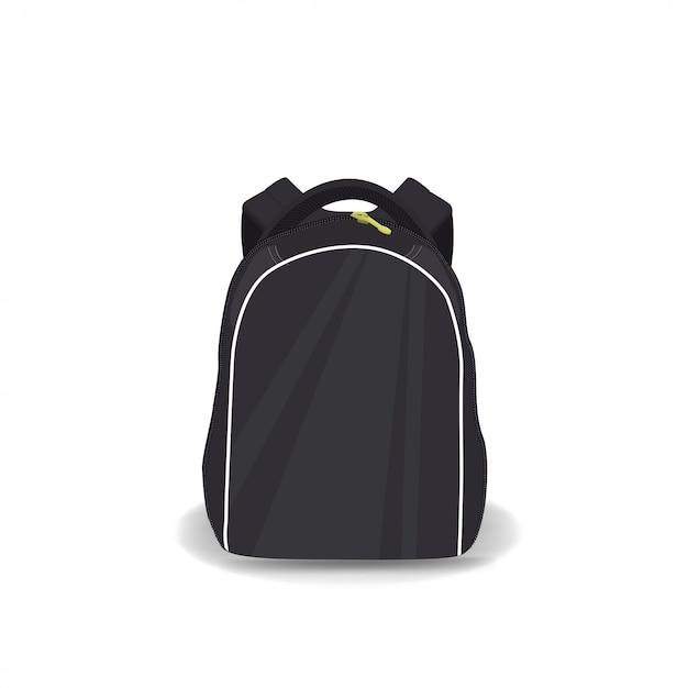 Школьный рюкзак изолированный Premium векторы