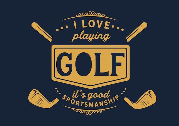 ゴルフバッジ Premiumベクター