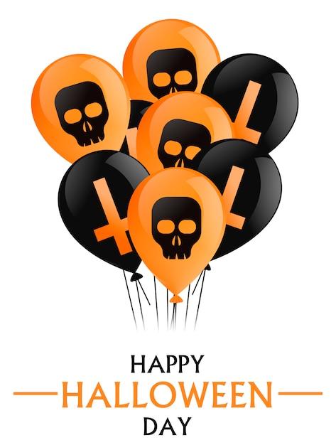 Счастливый день хэллоуина. Бесплатные векторы
